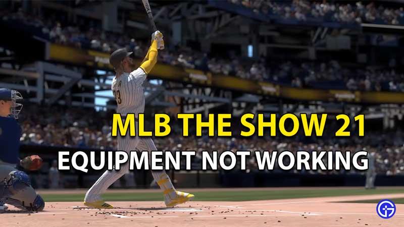MLB The Show 21: El equipo de equipamiento no funciona