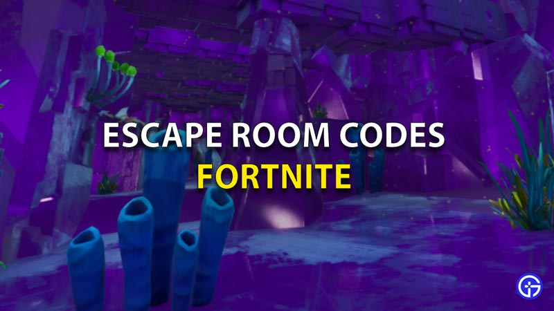 Escape Room Codes Fortnite