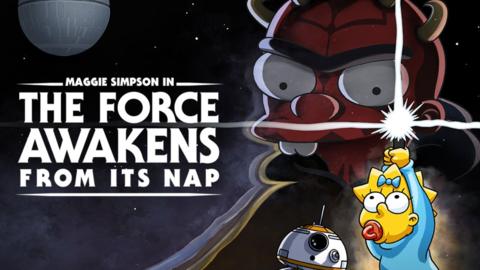 Los Simpsons celebran el día de Star Wars con un nuevo cortometraje con Maggie