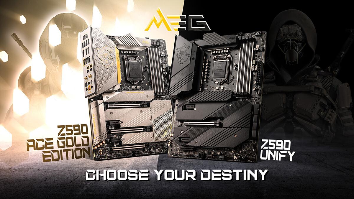 MSI anuncia MEG Z590 ACE Gold Edition y Z590 Unify Series