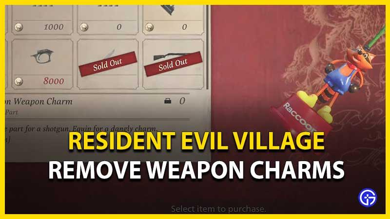 Cómo quitar amuletos de armas en Resident Evil Village