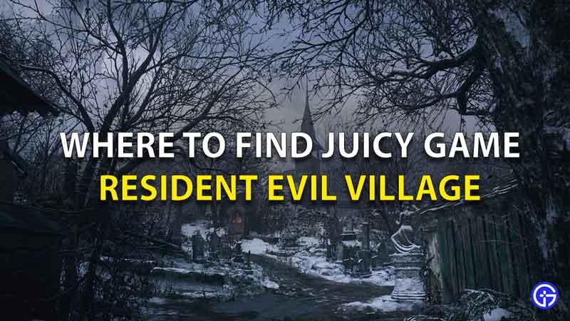 Resident Evil Village Dónde encontrar jugoso juego