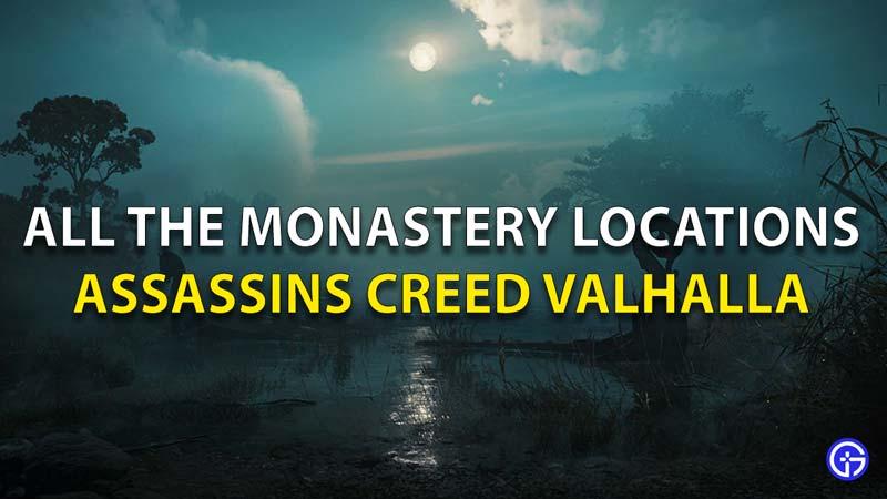 Todas las ubicaciones del monasterio Assassins Creed Valhalla