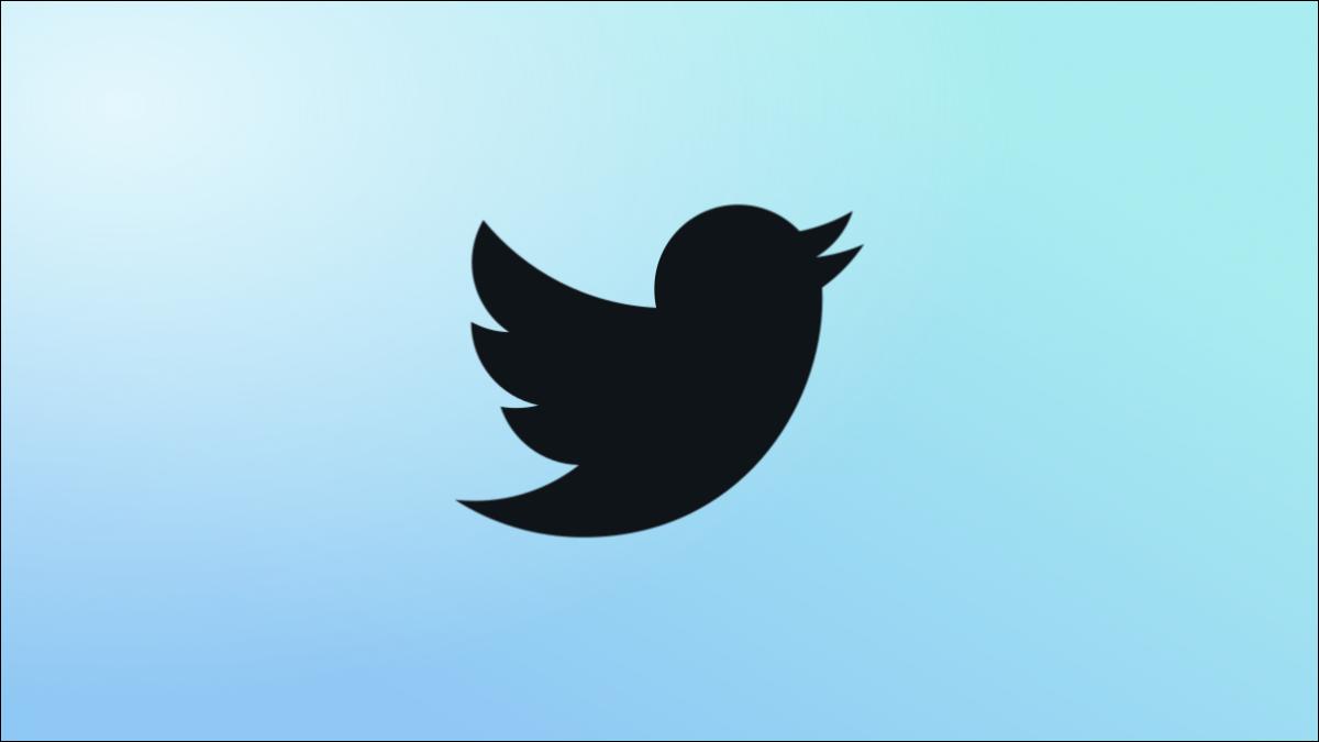 Logotipo azul de Twitter.
