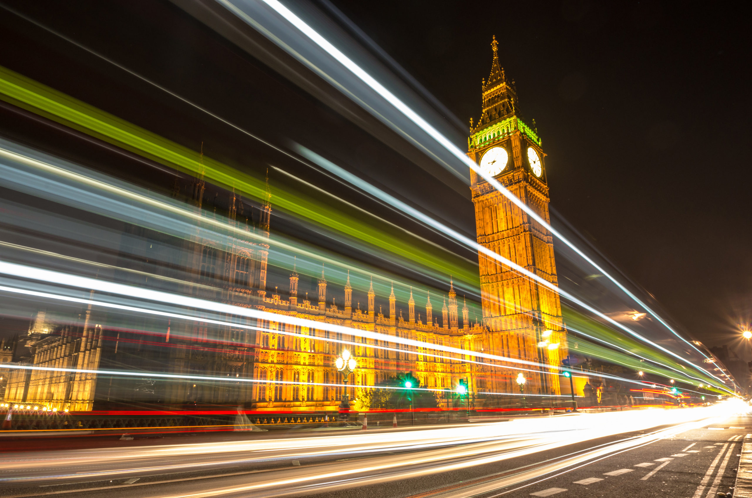 A picture of Big Ben at night