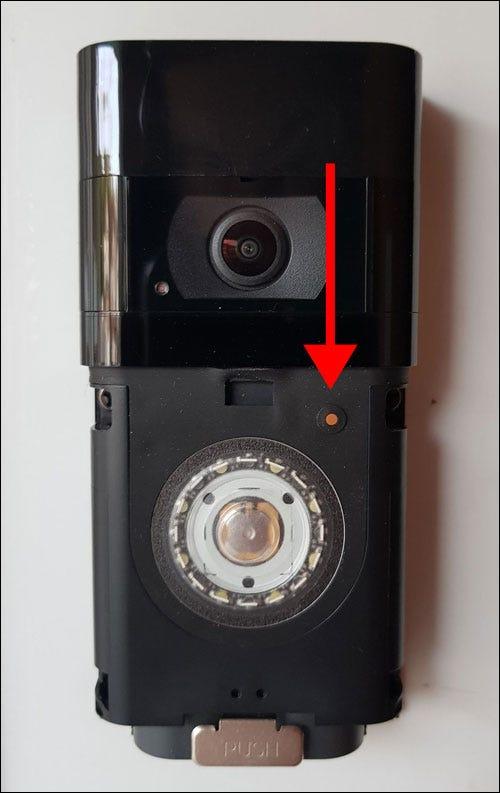 Botón de reinicio del timbre del timbre