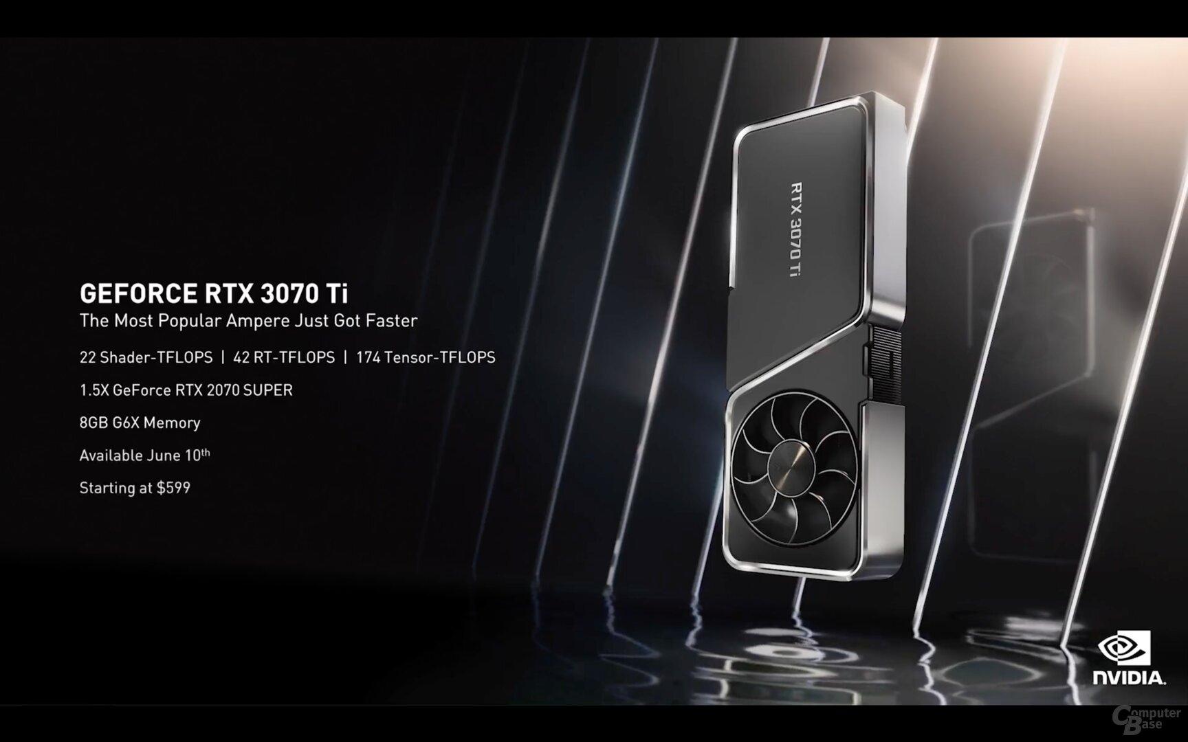 La nueva Nvidia GeForce RTX 3070 Ti