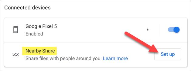 haga clic en configurar