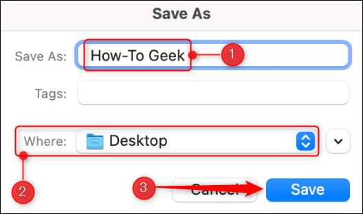 Guardar ubicación en Mac