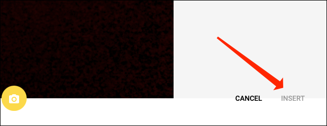 """Hacer clic """"Insertar"""" para agregar una imagen dentro de una celda en Google Sheets."""