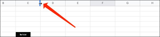 Ajuste el tamaño de la columna en Hojas de cálculo de Google.