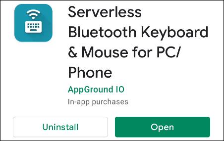 """Descargar el """"Teclado y mouse Bluetooth sin servidor"""" aplicación de Google Play Store"""