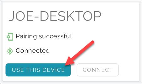 """Selecciona el """"Utilice este aparato"""" botón"""