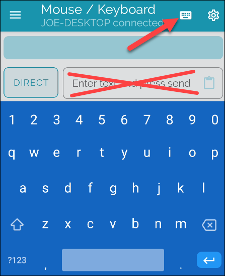usa el teclado