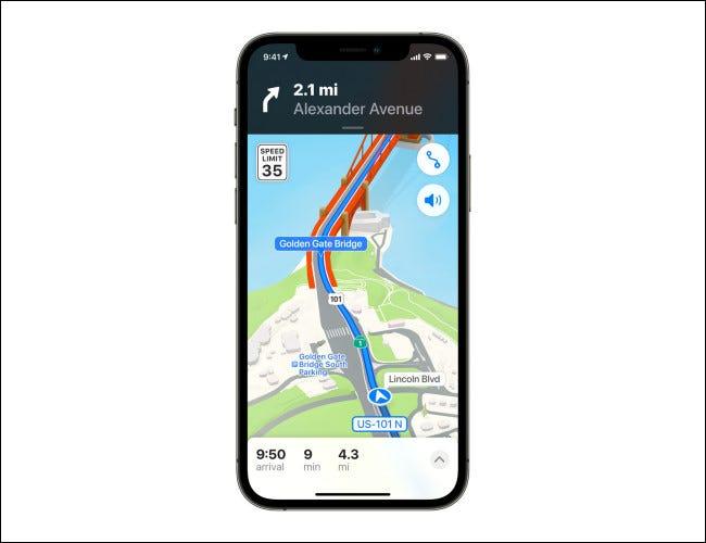 Apple Maps en iOS 15.
