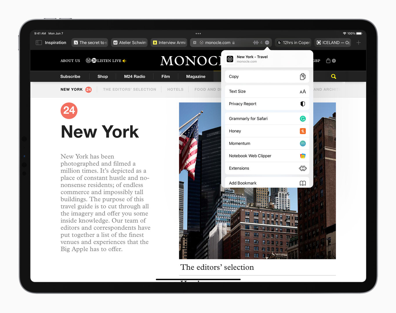 La nueva vista compacta en el navegador Safari