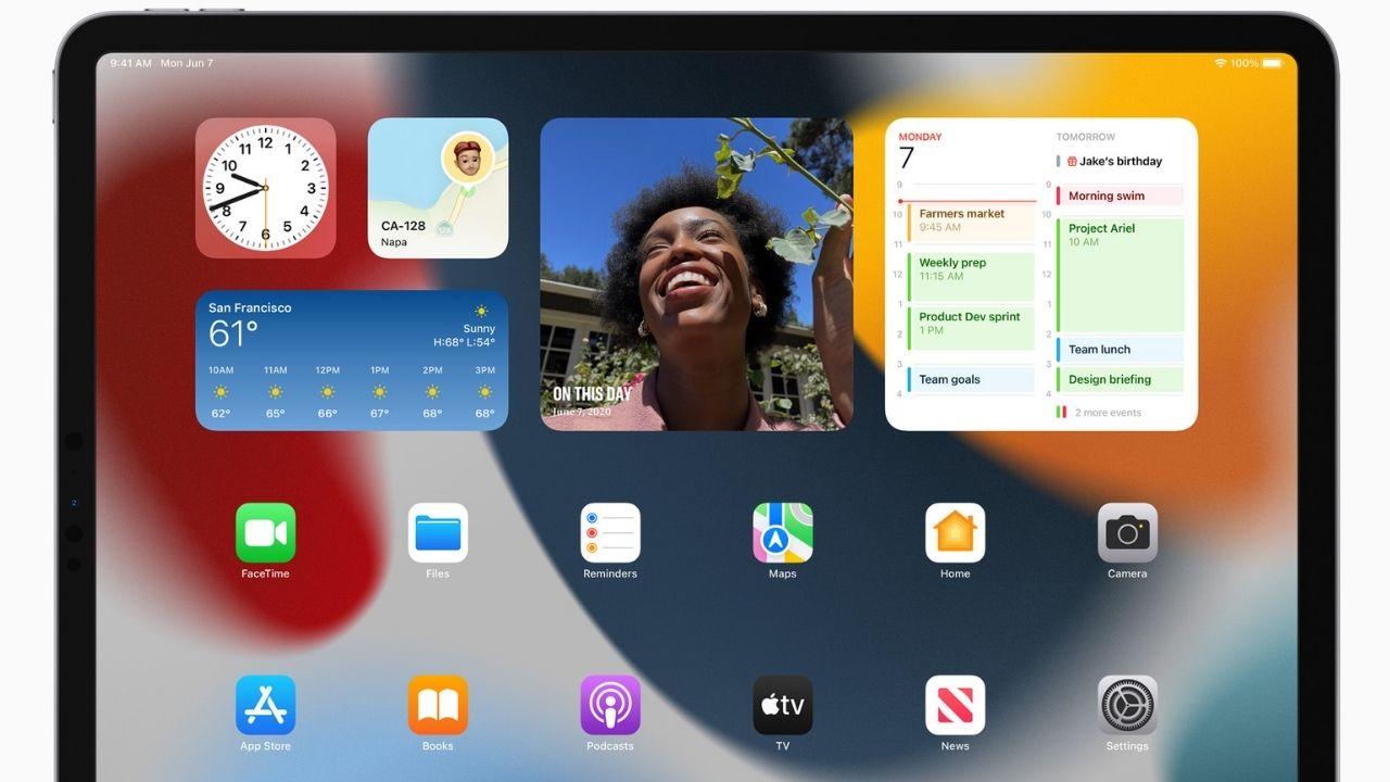 iPadOS finalmente tiene widgets en la pantalla de inicio.  Imagen: Apple