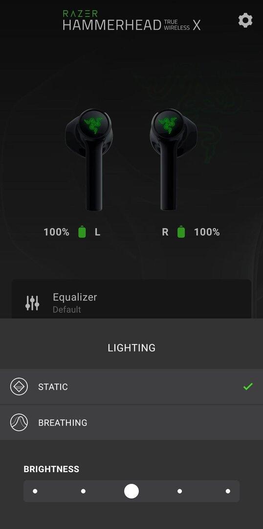 Configuración de la aplicación Razer Hammerhead True Wireless X