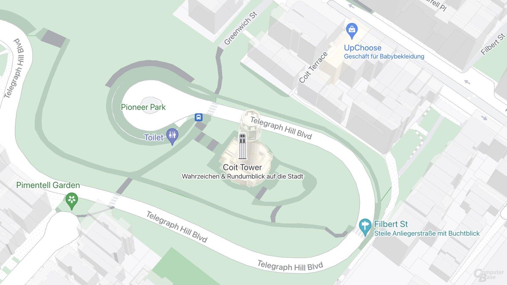 SF Coit Tower (Google Maps)