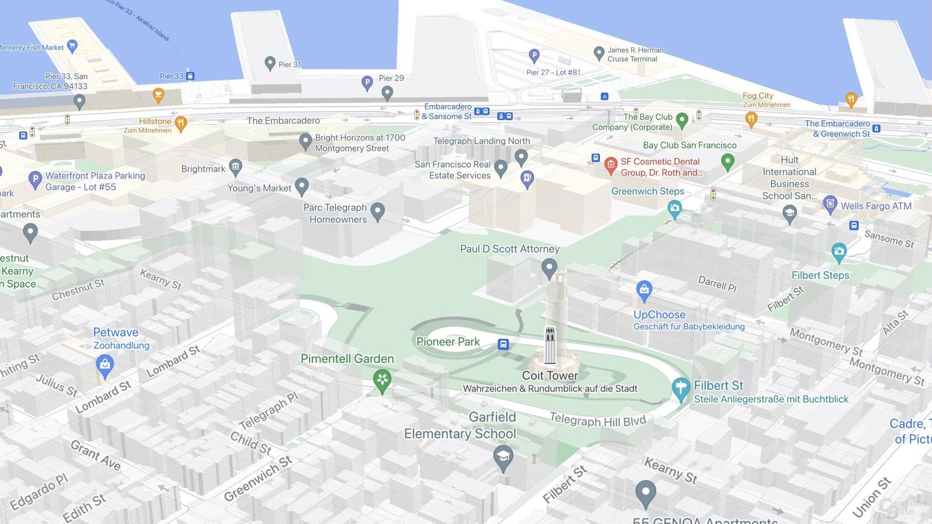 SF Telegraph Hill (Google Maps)