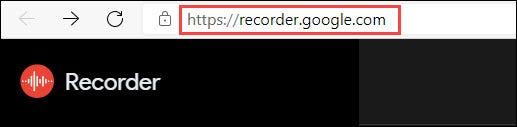 sitio web de google recorder