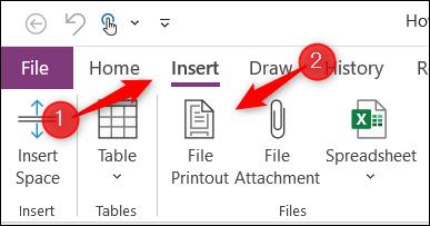 Opción de impresión de archivos en Microsoft OneNote