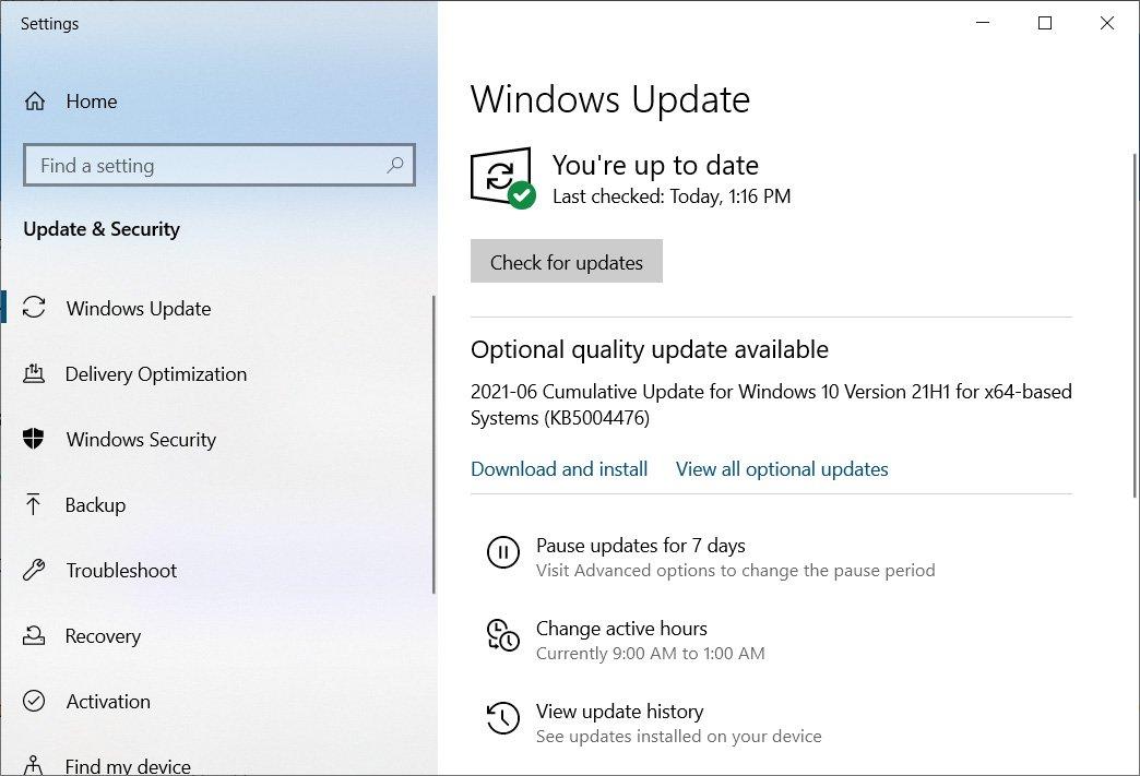 Actualización de Windows 10 KB5003690