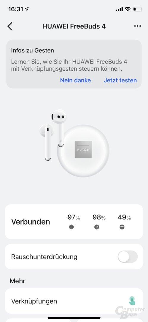 Aplicación Huawei AI-Life con FreeBuds 4