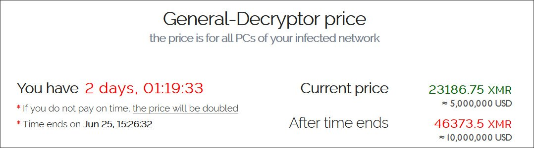 Demanda de rescate de la muestra compartida con Bleeping Computer