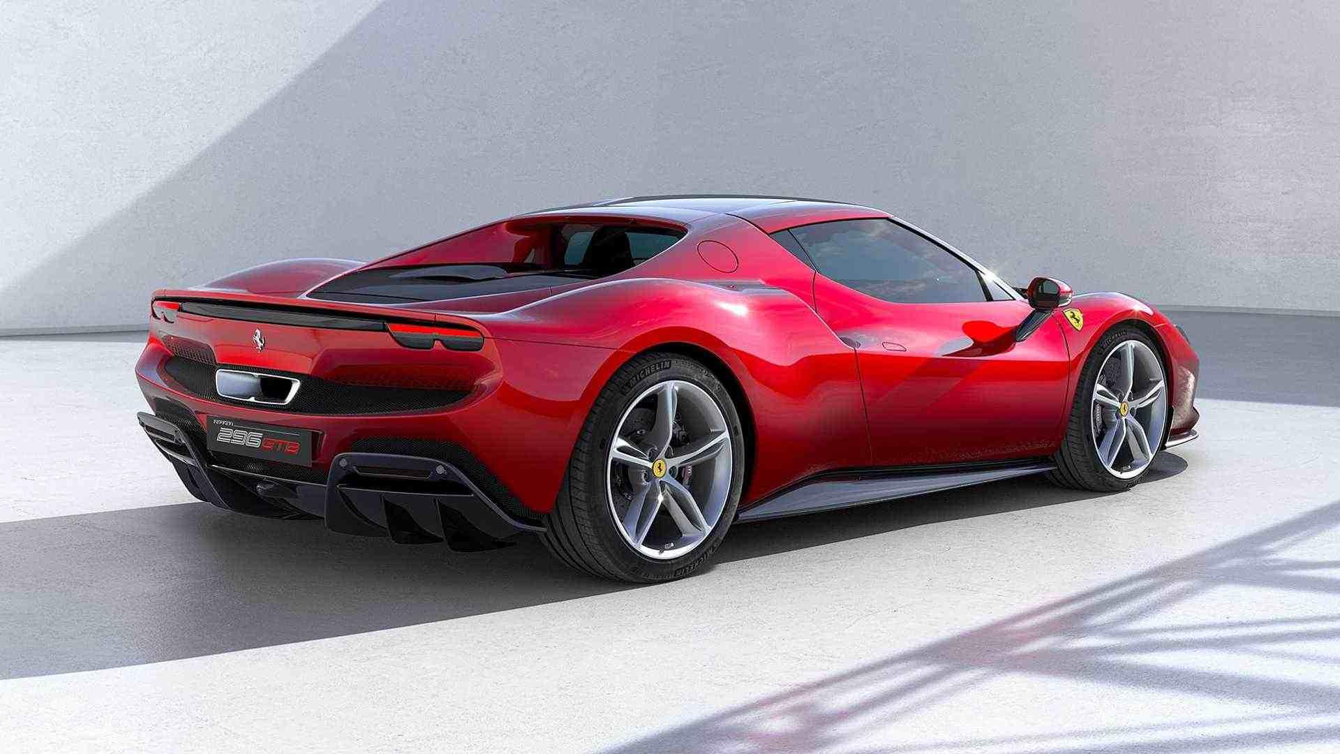 En modo solo eléctrico, el Ferrari 296 GTB tiene una autonomía de hasta 25 kilómetros.  Imagen: Ferrari