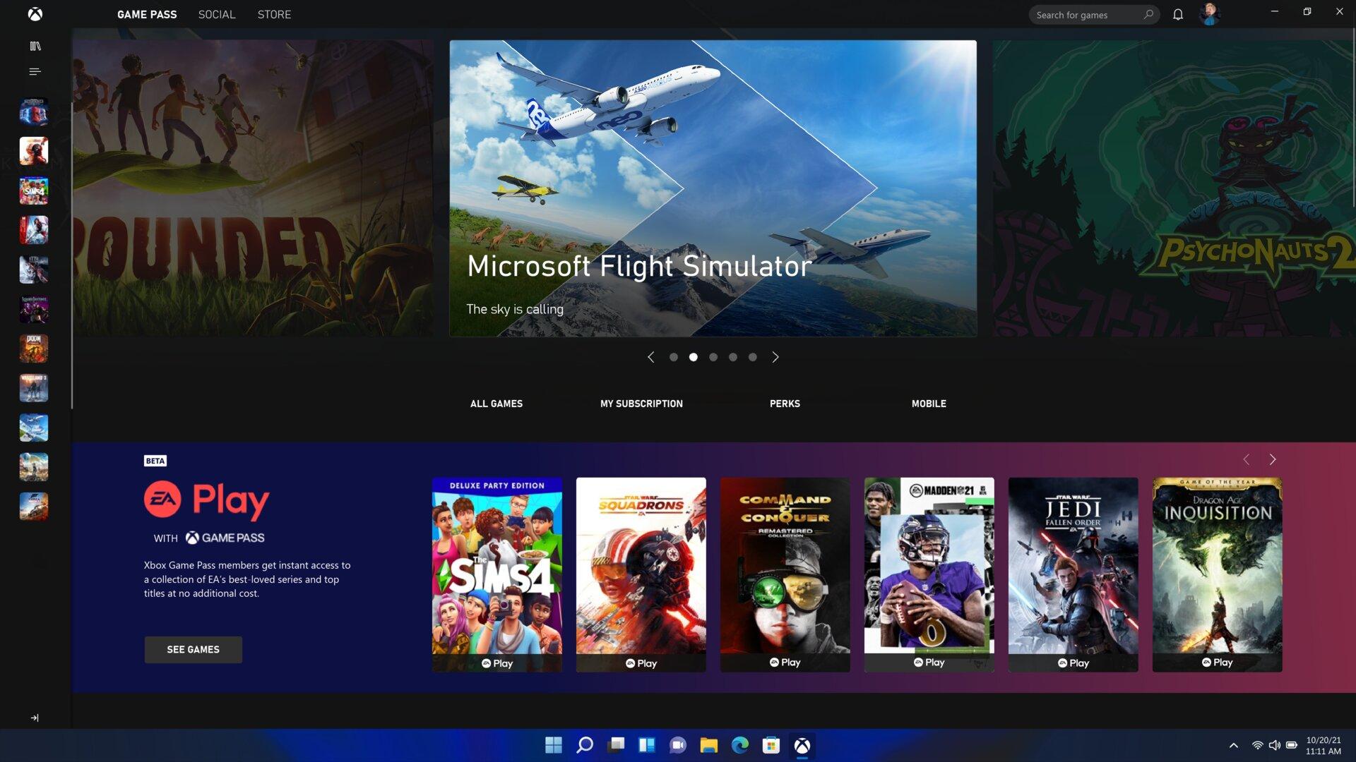 La nueva Microsoft Store con integración de aplicaciones de transmisión