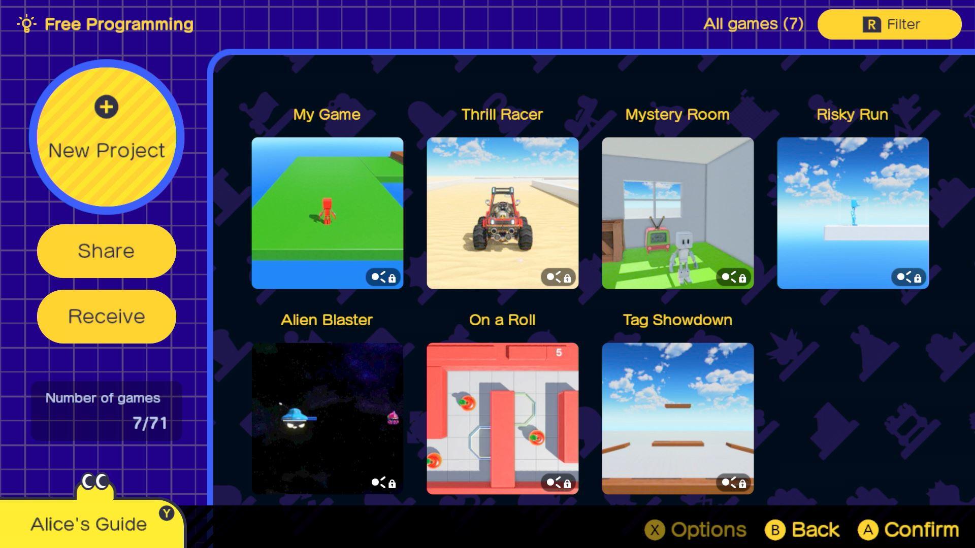 captura de pantalla de game builder garage