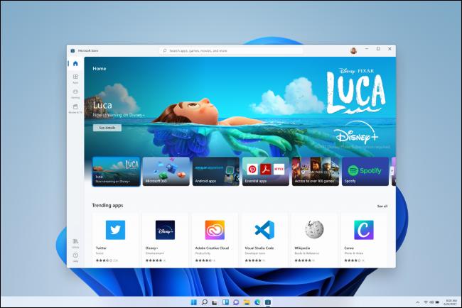 La nueva aplicación Store de Windows 11.