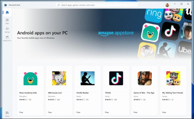 Aplicaciones de Android de Amazon Appstore en Microsoft Store