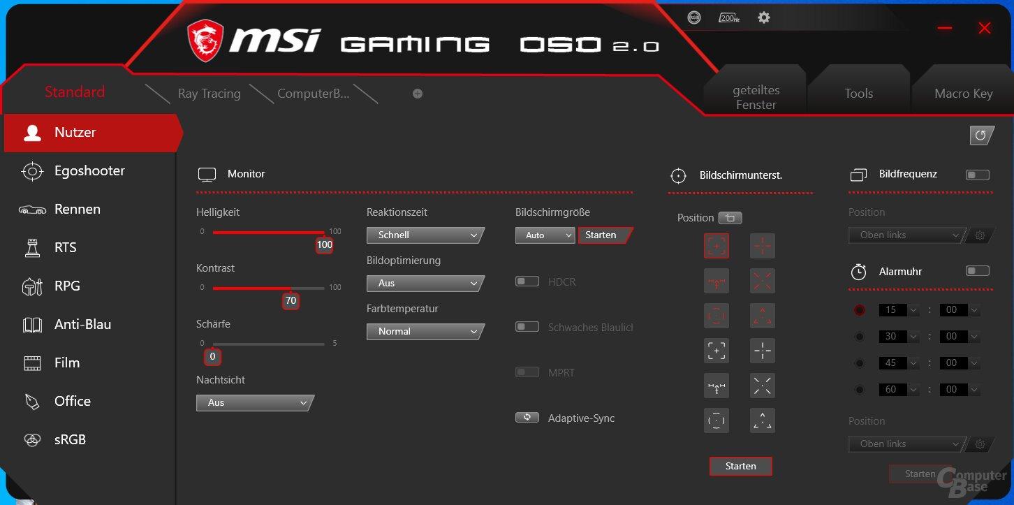 OSD para juegos MSI con MAG301RF