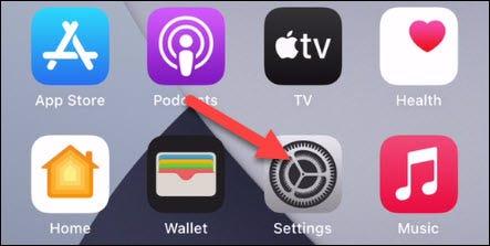 """Abre el """"Ajustes"""" aplicación."""