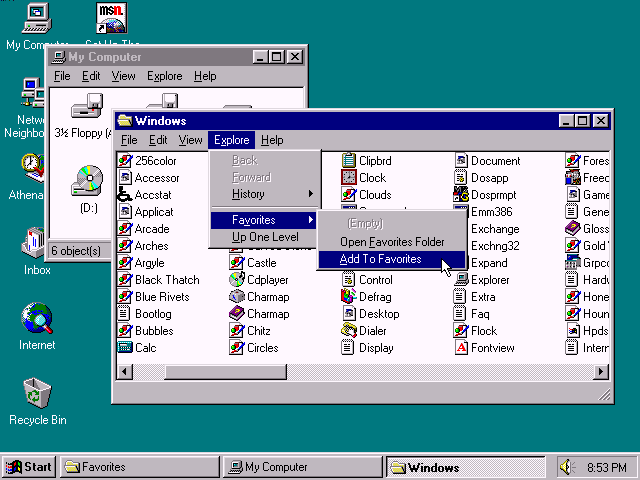 Windows 96 compilación 4.10.999