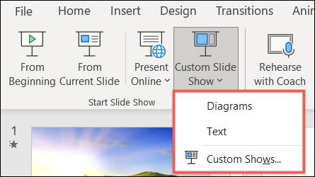 Reproducir una presentación personalizada en PowerPoint