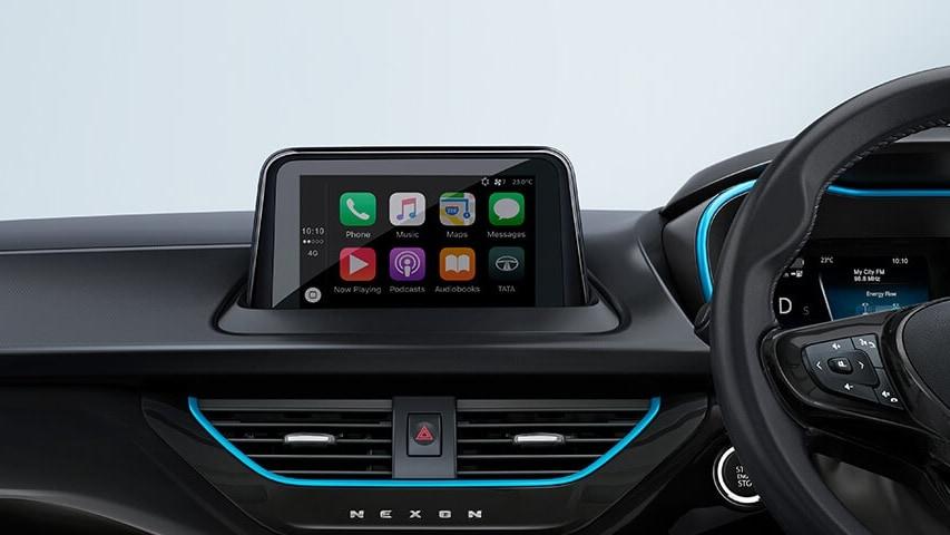 Se han eliminado los controles físicos colocados debajo de la pantalla táctil.  Imagen: Tata Motors