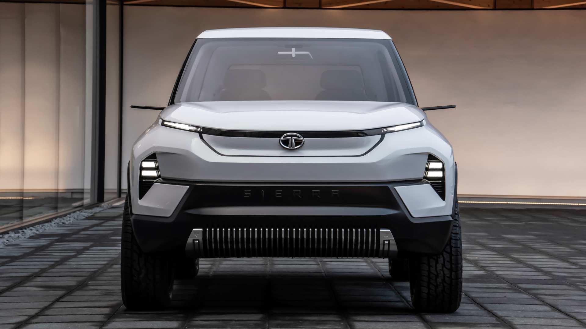 El renacido Tata Sierra es uno de los modelos totalmente nuevos y totalmente eléctricos que Tata Motors ha presentado en el pasado.  Imagen: Tata Motors