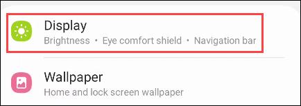 """Seleccione """"Monitor"""" desde la Configuración."""