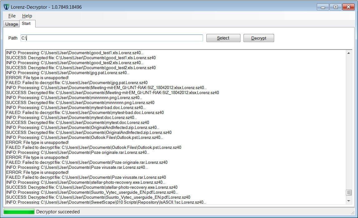 Descifrador de ransomware Lorenz