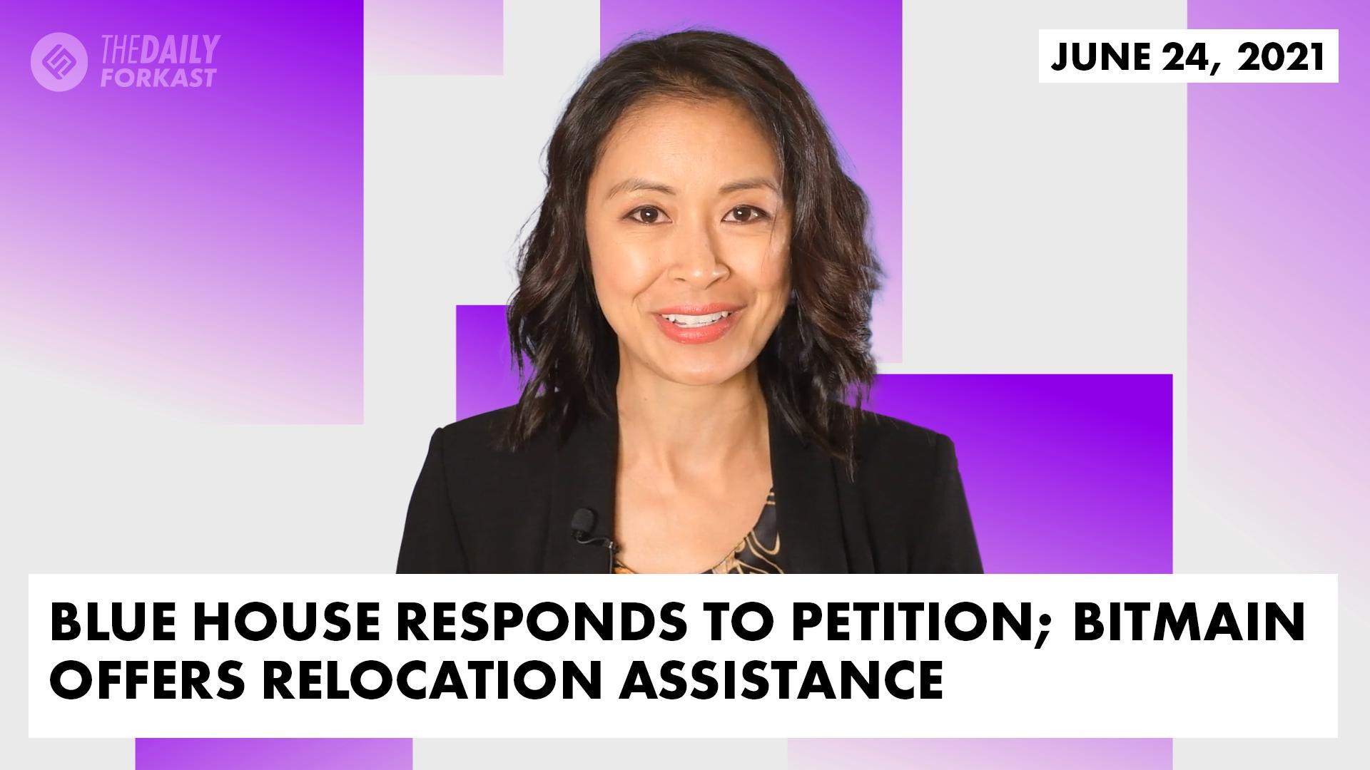 Blue House responde a la petición;  Bitmain ofrece asistencia para la reubicación