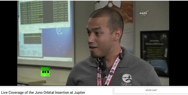 Debian Squeeze Space Fun detectado durante la transmisión en vivo de Juno Orbital Insertion