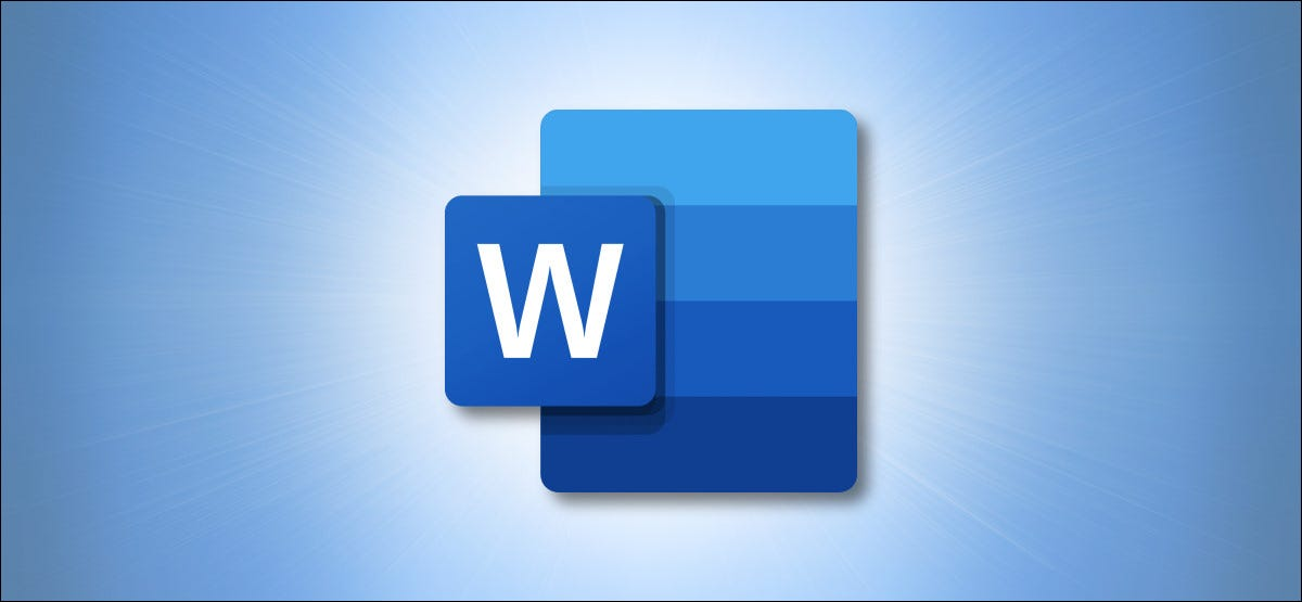 Logotipo de Microsoft Word en azul