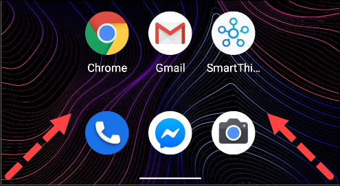 Desliza el dedo desde la esquina inferior izquierda o derecha para iniciar el Asistente de Google.