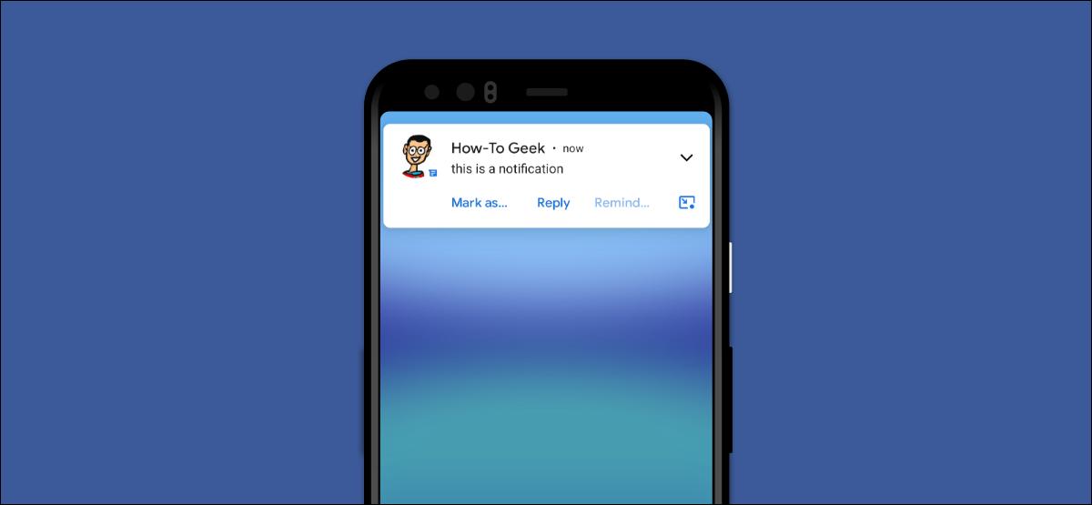 notificación de Android en la pantalla