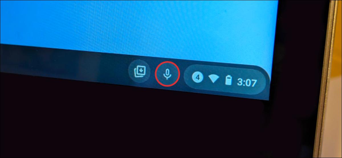 botón de voz a texto de Chromebook