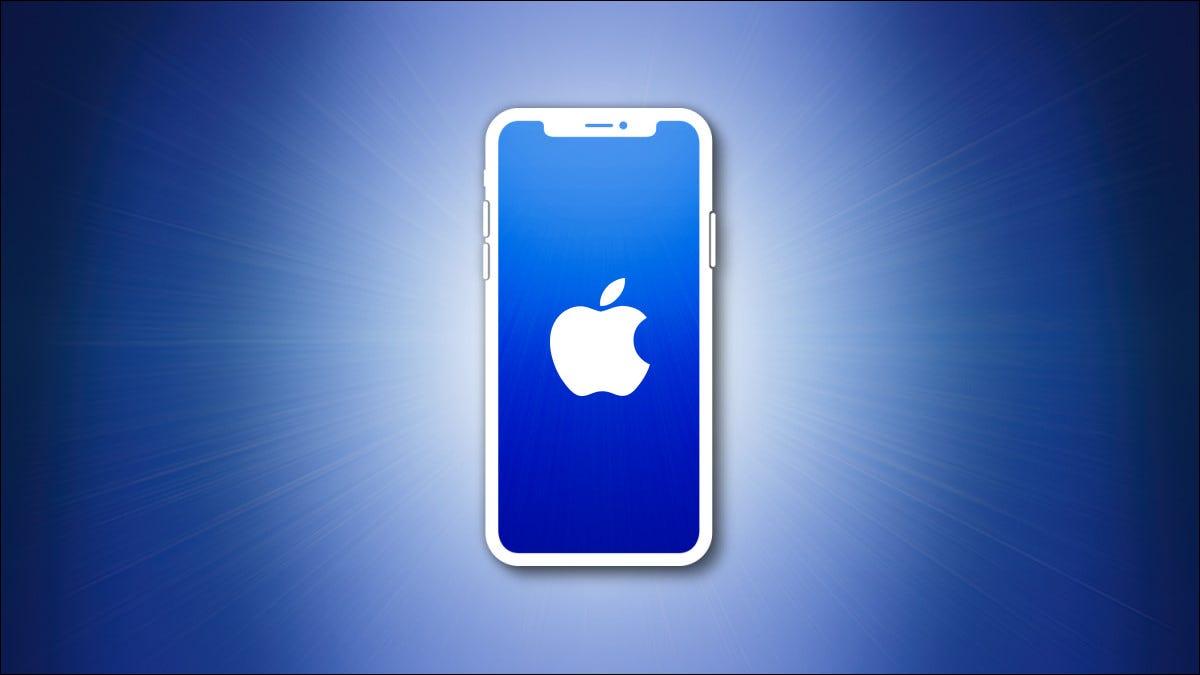 Esquema de iPhone con pantalla azul sobre un fondo azul héroe