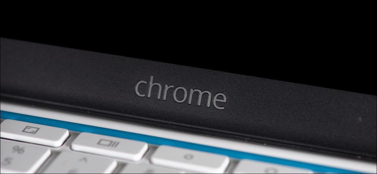 Logotipo de Chrome en un Chromebook de Google